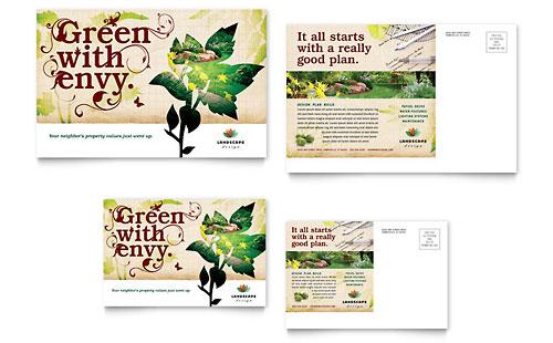 Landscape Design Postcard Template
