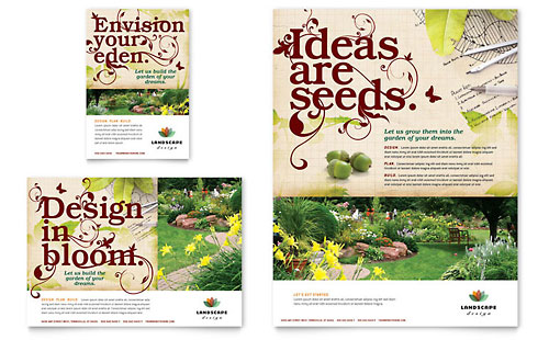 Landscape Design Flyer & Ad Template