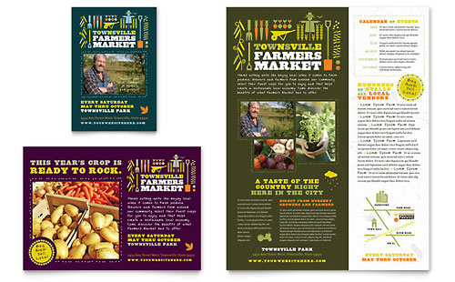 Farmers Market Flyer & Ad Template