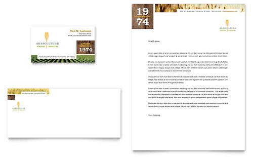 Farming & Agriculture Business Card & Letterhead Template
