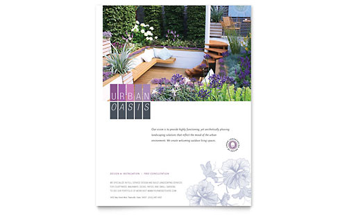 Urban Landscaping Flyer Template