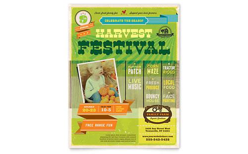 Harvest Festival Flyer Template