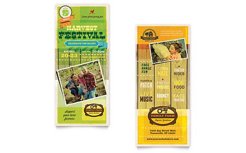Harvest Festival Rack Card Template