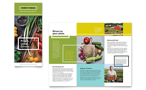 Organic Food Brochure Template