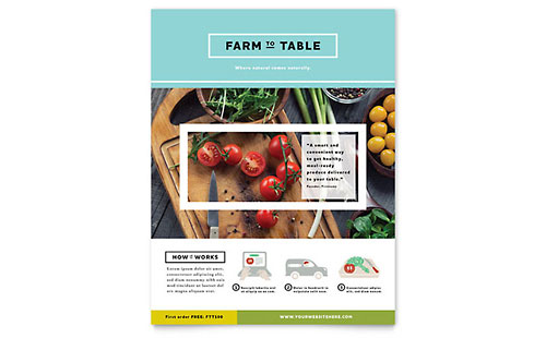 Organic Food Flyer Template