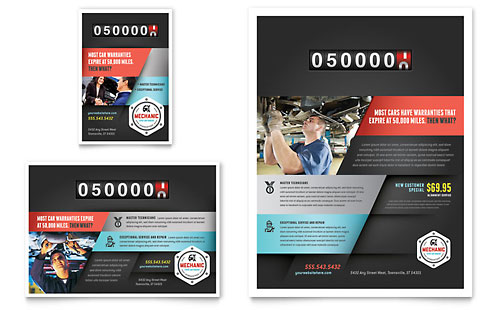 Auto Mechanic Flyer & Ad Template