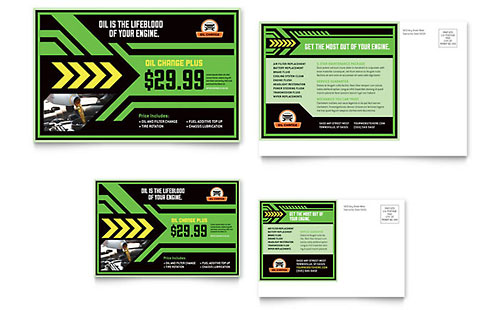 6x4 postcard template - automotive transportation 6x4 postcard templates