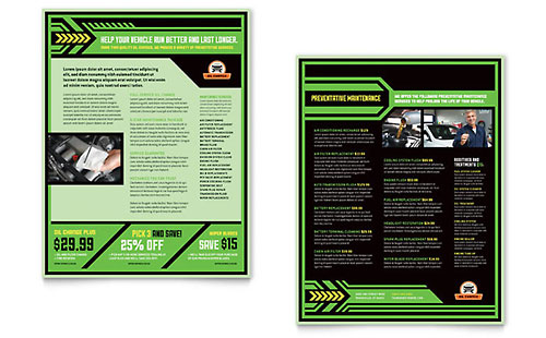 Oil Change Datasheet Template