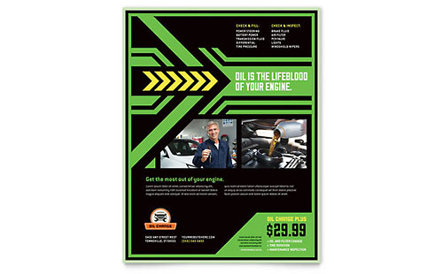 Oil Change Flyer Template