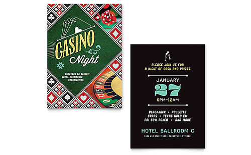 Casino Night Invitation Template