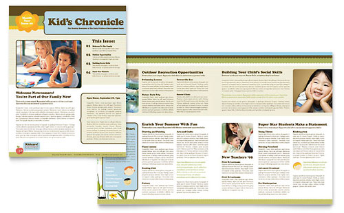 Child Development School Newsletter Template