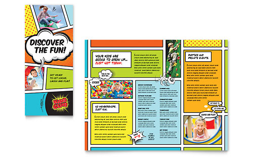 Child care brochures templates designs for Free brochure templates for kids