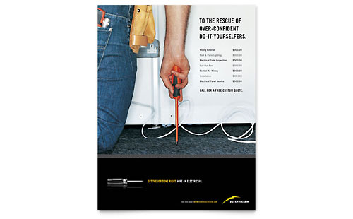 Electrician Flyer Template