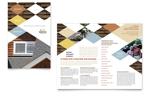 Roofing Contractor Brochure Template
