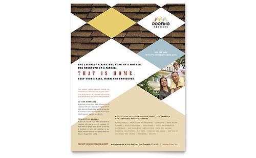 Construction Templates Brochures Flyers Postcards