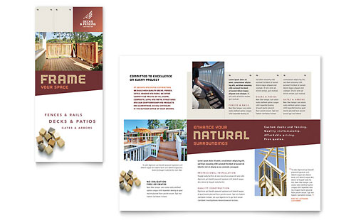 Construction Tri Fold Brochure Templates