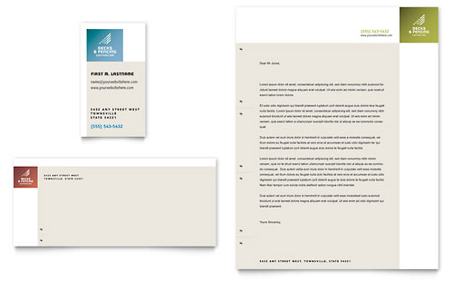 Decks & Fencing Business Card & Letterhead Template