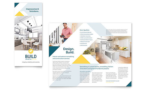Contractor InDesign Brochure Template