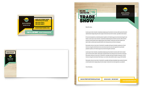 Builders Trade Show Business Card Template