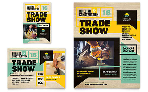 Builder's Trade Show Flyer & Ad Template