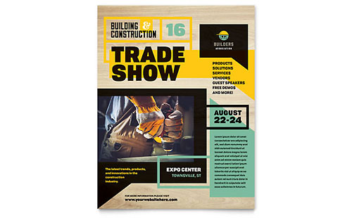 Builders Trade Show Leaflet Template