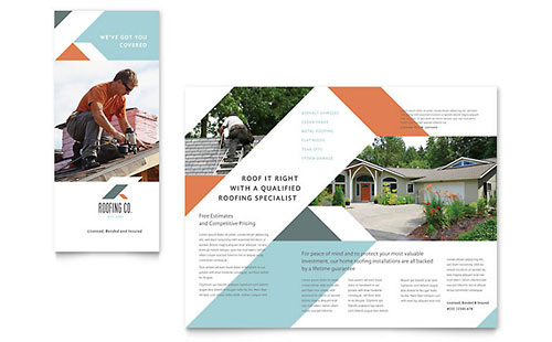 Roofing Company Brochure Template