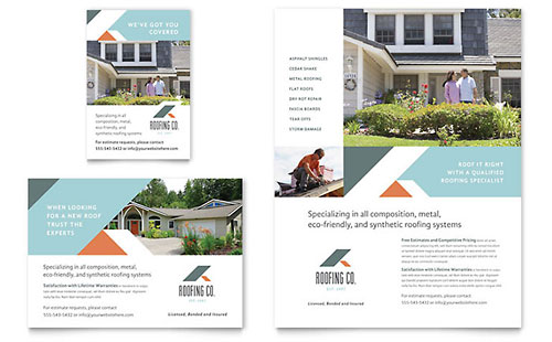 Roofing Company Flyer U0026 Ad