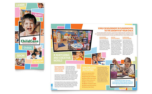 Preschool Kids & Day Care - Brochure Template