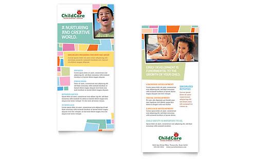 Preschool Kids & Day Care Rack Card Template