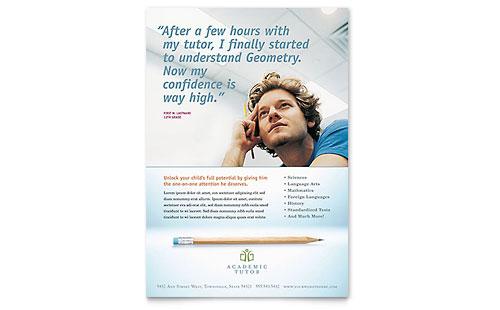 Academic Tutor & School Flyer Template
