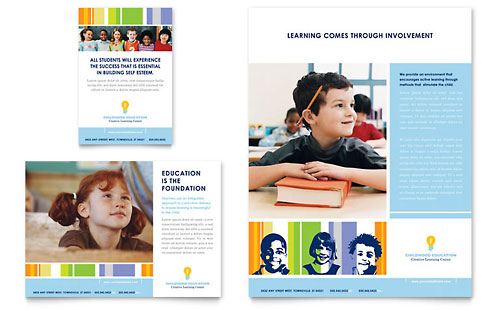 Learning Center & Elementary School Flyer & Ad Template