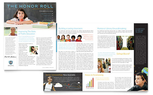 Education Foundation & School Newsletter Template