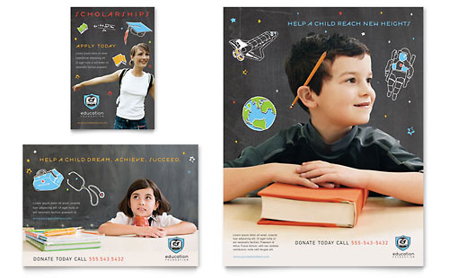 Education Foundation & School Flyer & Ad Template