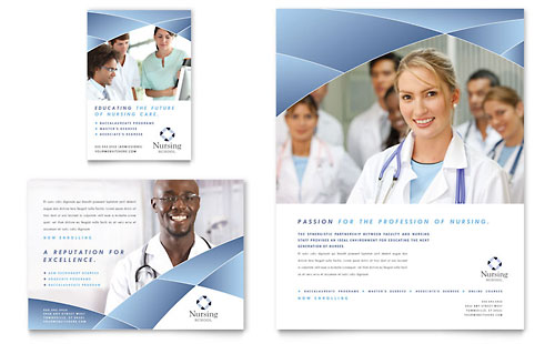 Nursing School Hospital Flyer & Ad Template