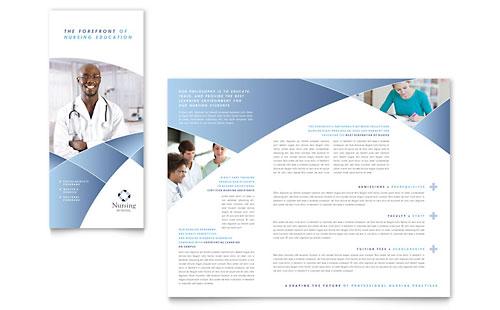 Nursing School Hospital Tri Fold Brochure Template