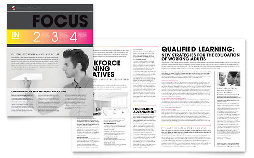 Adult Education & Business School Newsletter Template