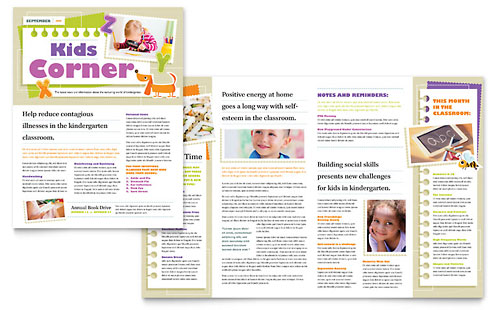 Preschool Amp Kindergarten Newsletter Templates