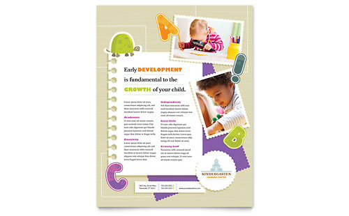 Kindergarten Flyer Template