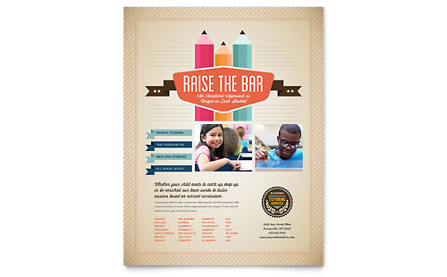 Tutoring School - Flyer Template