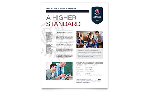 High School Flyer Template