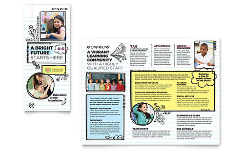 Elementary School - Sample Tri-Fold Brochure Template