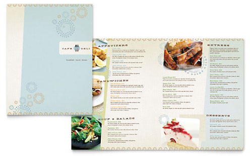 Cafe Deli Menu Template