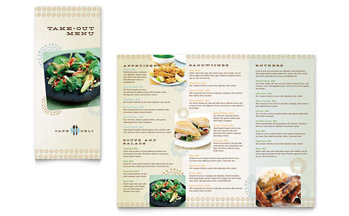 Cafe Deli Take-out Brochure Template