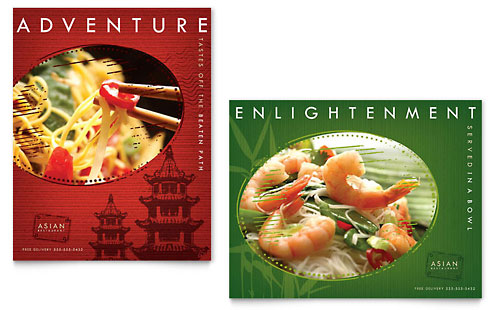 Asian Restaurant Poster Template