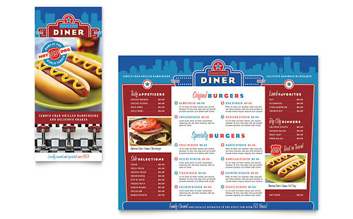 American Diner Restaurant - Take-out Brochure Template