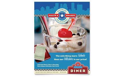 American Diner Restaurant Flyer Template