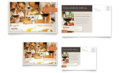 Bistro & Bar Postcard Template