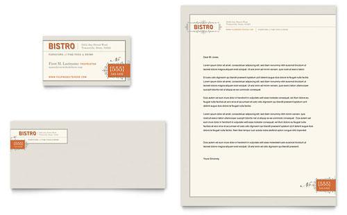 Bistro & Bar Business Card & Letterhead Template