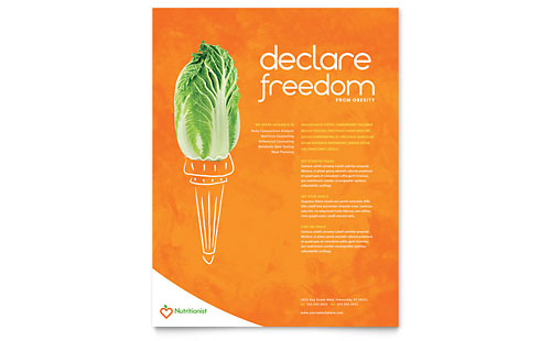 Nutritionist & Dietitian Flyer Template