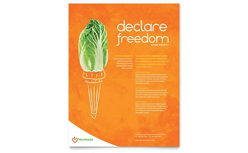 Nutritionist & Dietitian - Flyer Template
